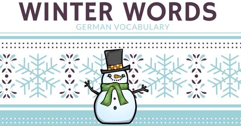 لغات آلمانی زمستان