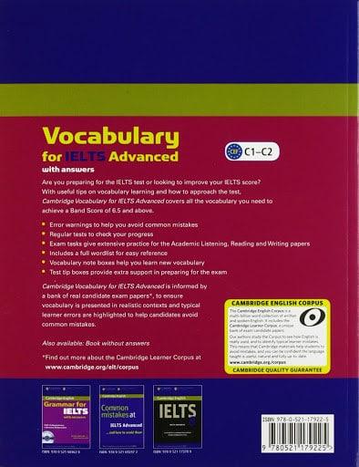کتاب Cambridge English Vocabulary for IELTS Advanced with Answers